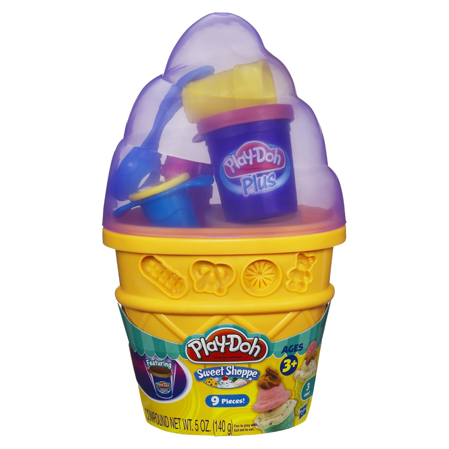 Bộ làm kem ốc quế Play-Doh Sweet Shoppe Ice Cream Cone Container Craft Kit