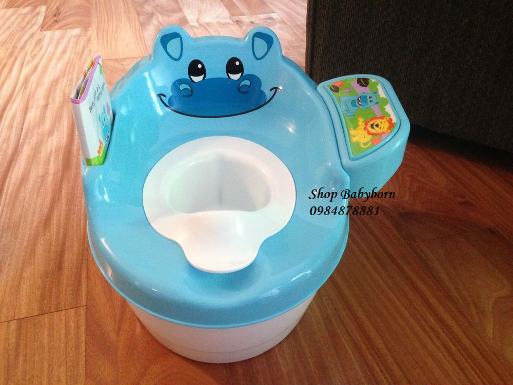Bô ngồi cho bé Summer Infant 3in1 Hippo Tales Potty