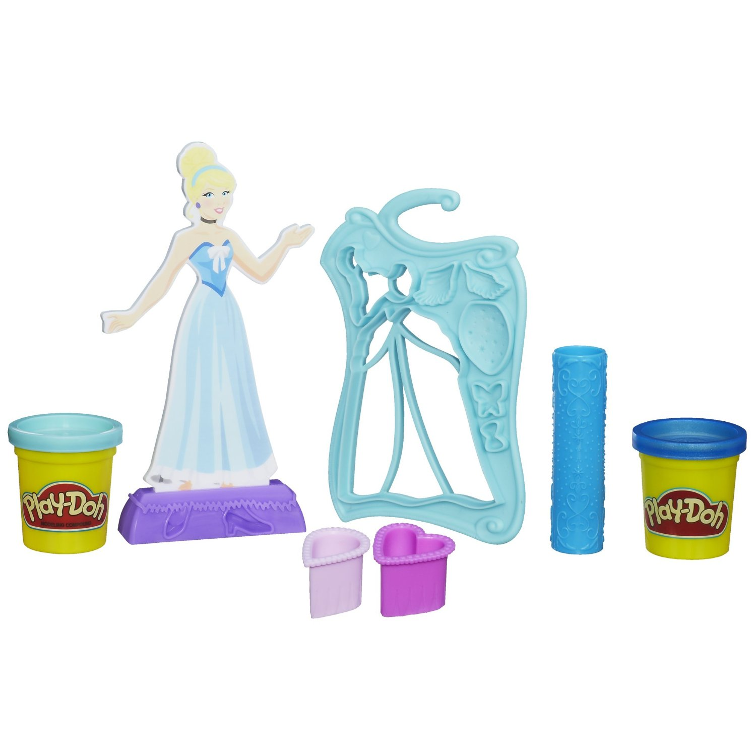 Bột nặn Play-Doh Design-a-Dress Fashion Kit Featuring Disney Princess Cinderella
