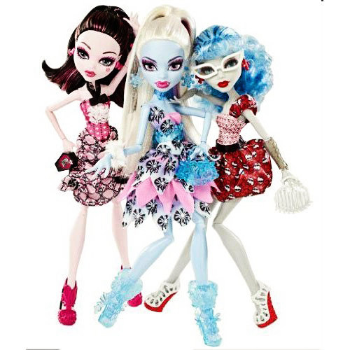 Búp bê Monster High Doll Exclusive Dot Dead Gorgeous ~ 3 Pack Draculaura, Abbey Bominable, Ghoulia Yelps