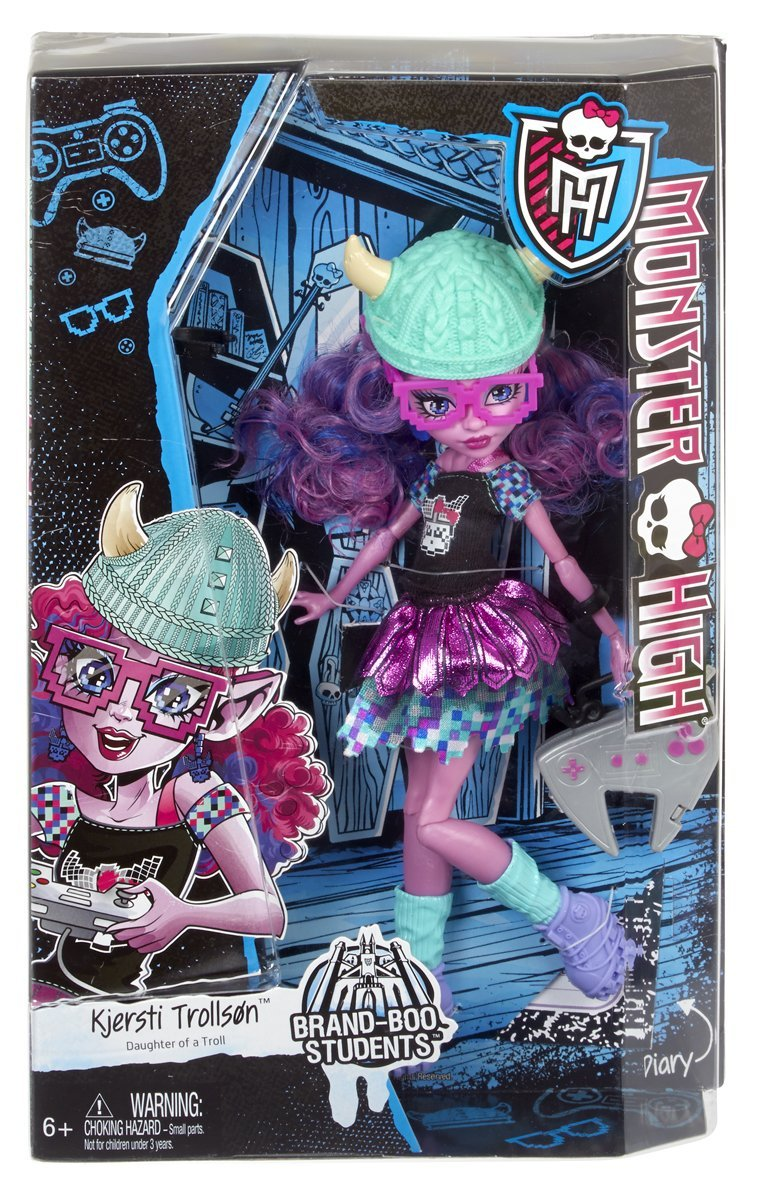 Búp bê mũ len xanh Monster High Brand-Boo Students Kjersti Trollson Doll