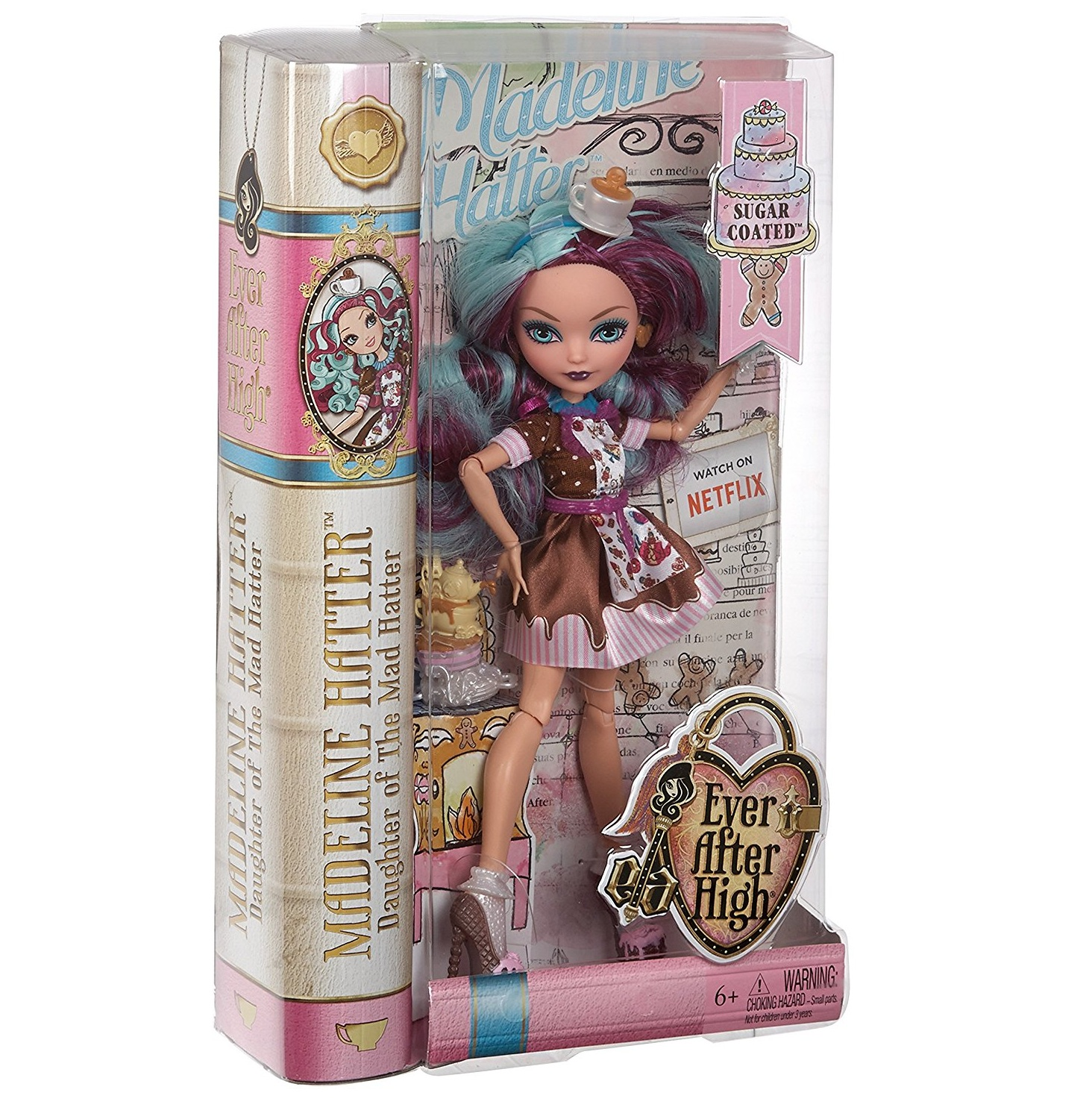 Công chúa hậu duệ Madeline trong chiếc tạp dề Ever After High Sugar Coated Madeline Hatter Doll