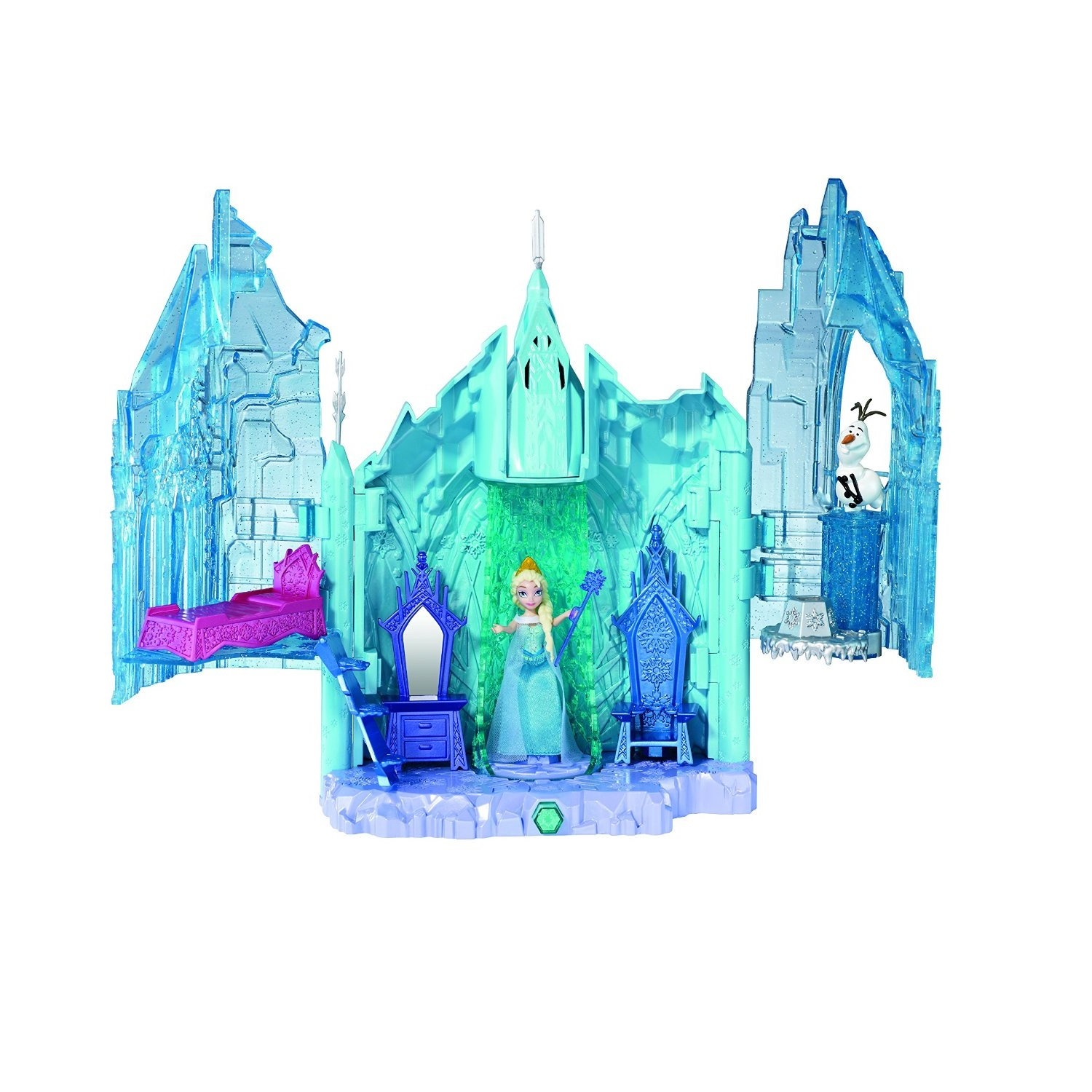 Bộ đồ chơi Disney Frozen Small Doll Elsa and Magical Lights Place playset