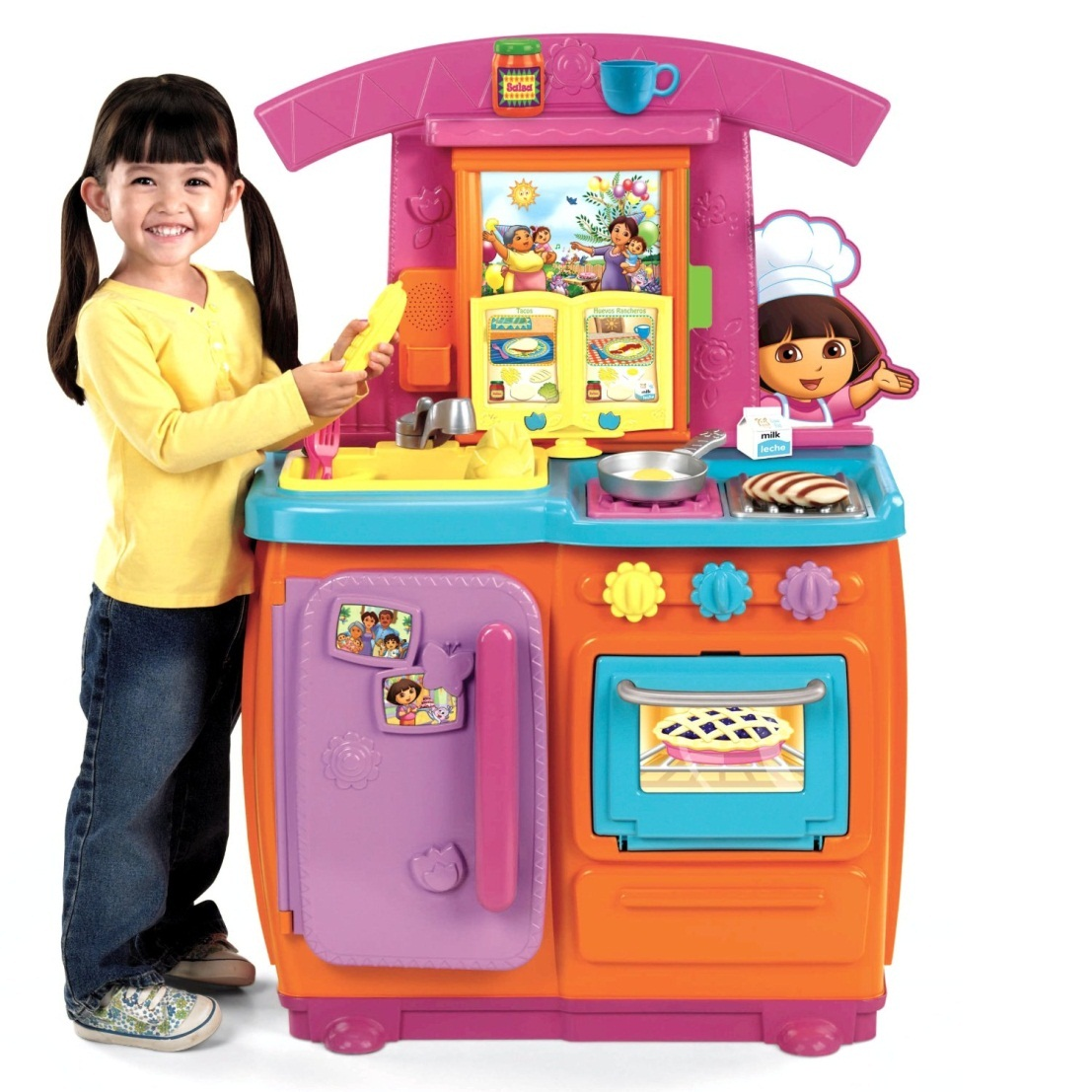 Đồ chơi Kệ bếp Fisher-Price Dora Fiesta Favorites Kitchen