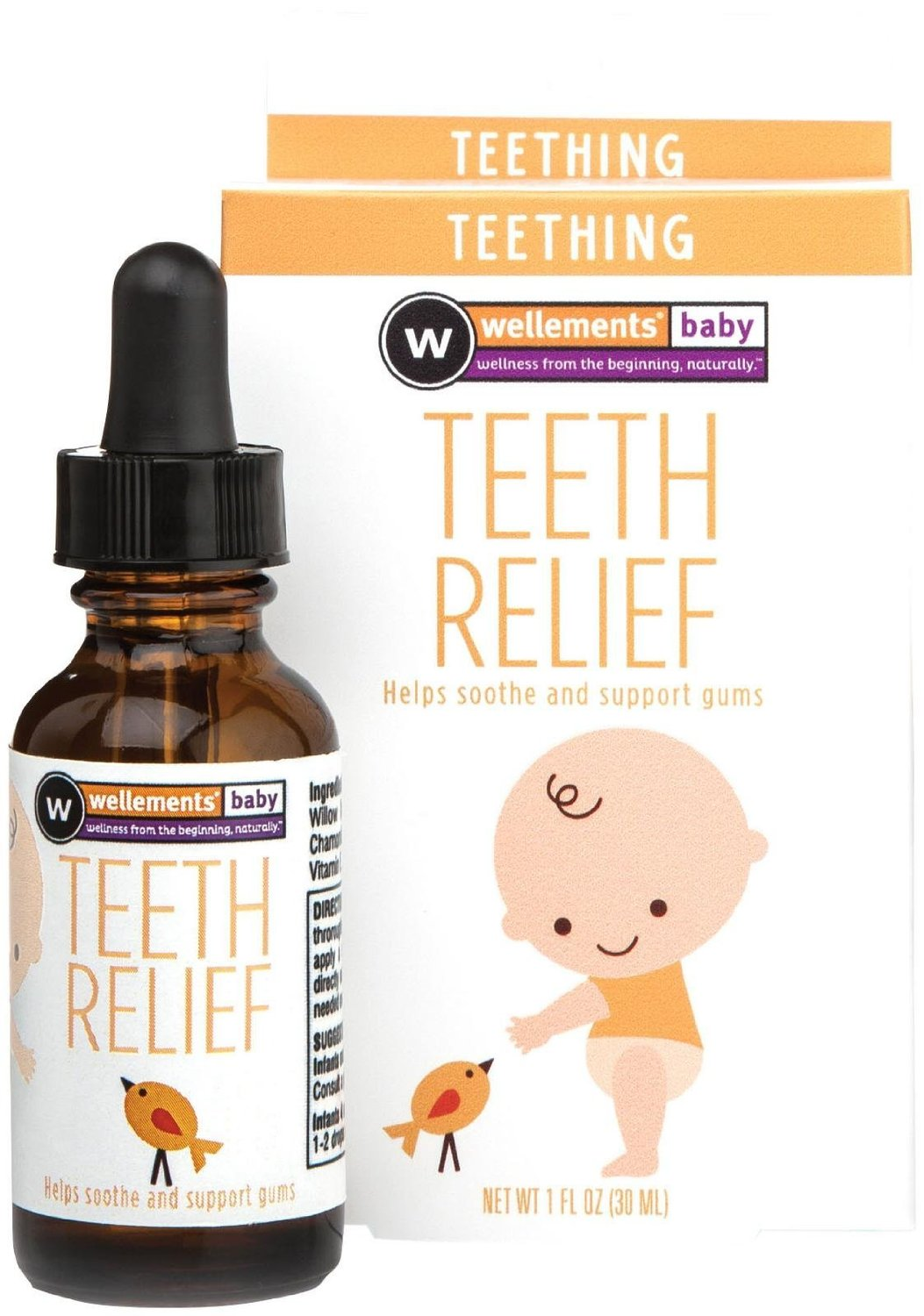 Dung dịch mọc răng dịu nhẹ Wellements Teeth Relief