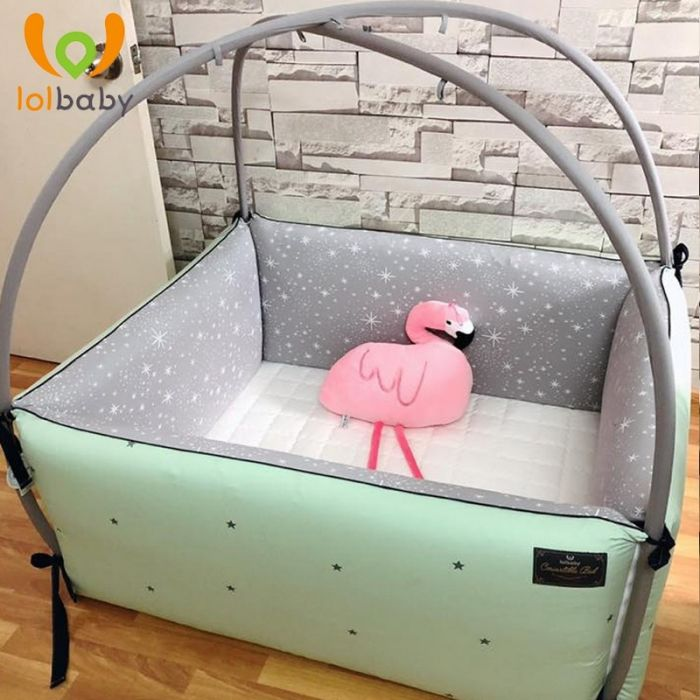 Giường cotton Bumper Simple Star Mint LolBaby
