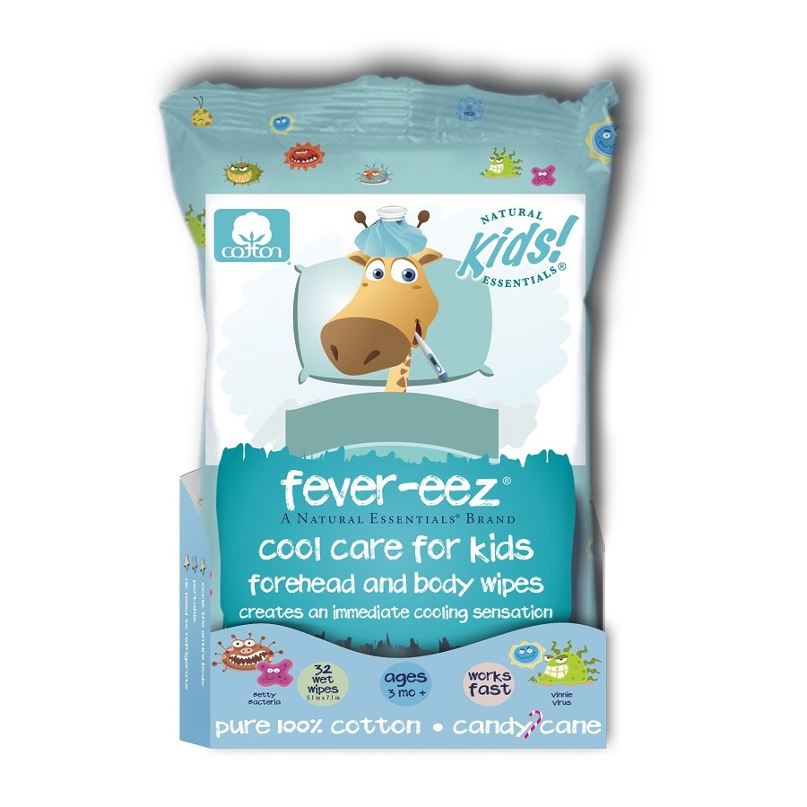 Khăn lau hạ sốt cho bé Fever-eez Cool Care Forehead and Body Wipes for Kids and Babies