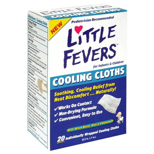 Khăn lau hạ sốt Little Fevers Cooling Cloths