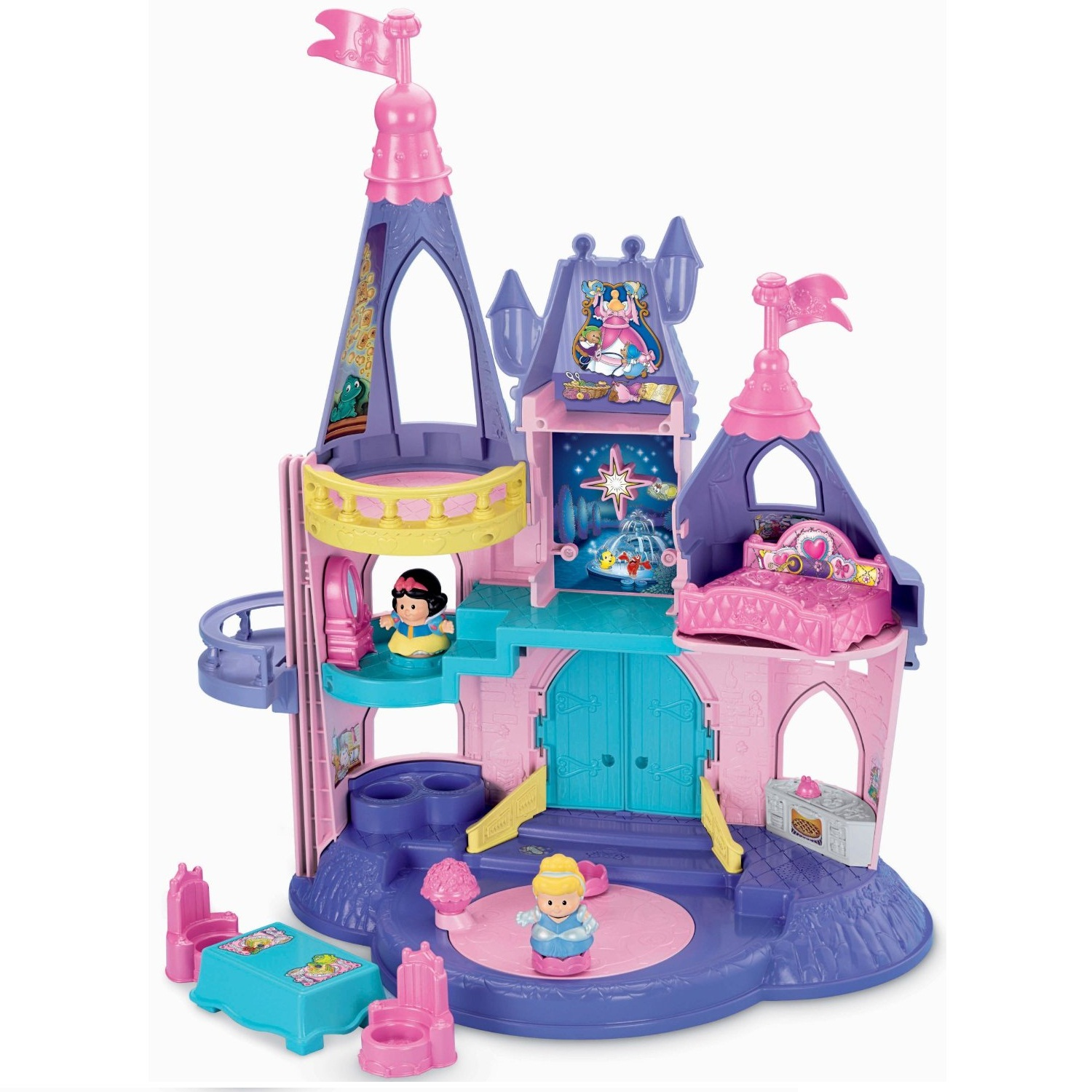 Lâu đài Fisher-Price Little People Disney Princess Songs Palace
