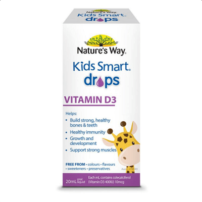 Nature's Way Kids Smart Drops Vitamin D3 20ML – Bổ Sung Vitamin D Cho Bé.