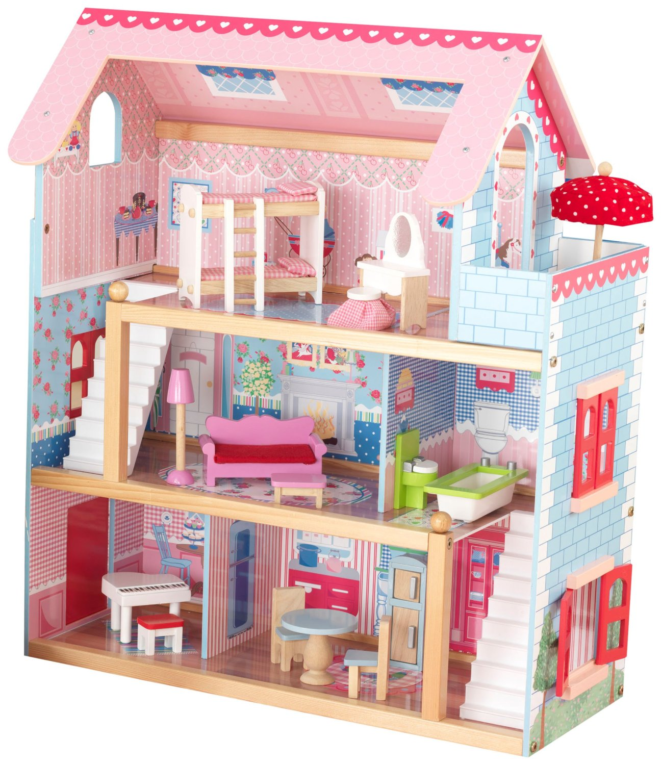 Nhà tranh cho búp bê - KidKraft Chelsea Doll Cottage with Furniture