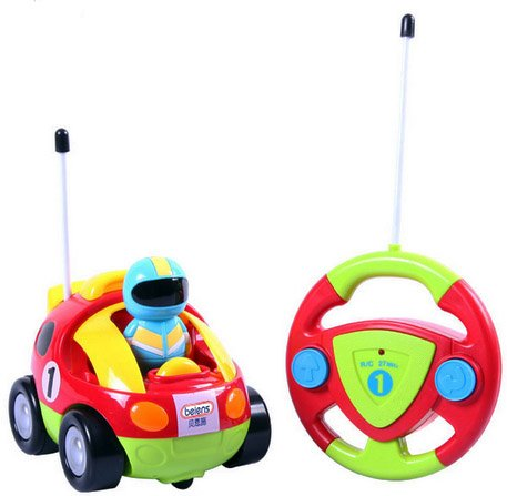 Ô tô điều khiển từ xa màu sắc Cartoon Race Car Radio Control Toy for Toddlers by Liberty Imports