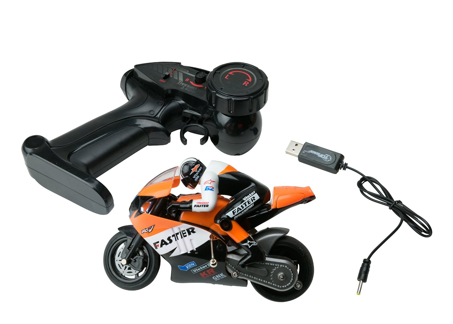 Siêu xe motor đua điều khiển từ xa Channel RC Remote Control Motorcycle Goes on 2 Wheels with Built in Gyroscope
