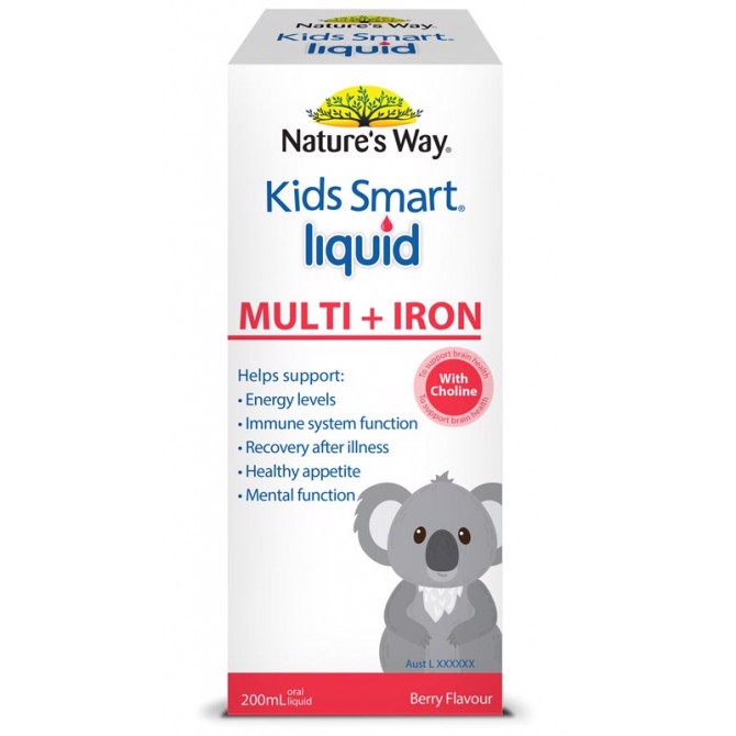 Siro bổ sung Sắt và Vi chất Nature's Way  Kid Smart Liquid Multi + Iron