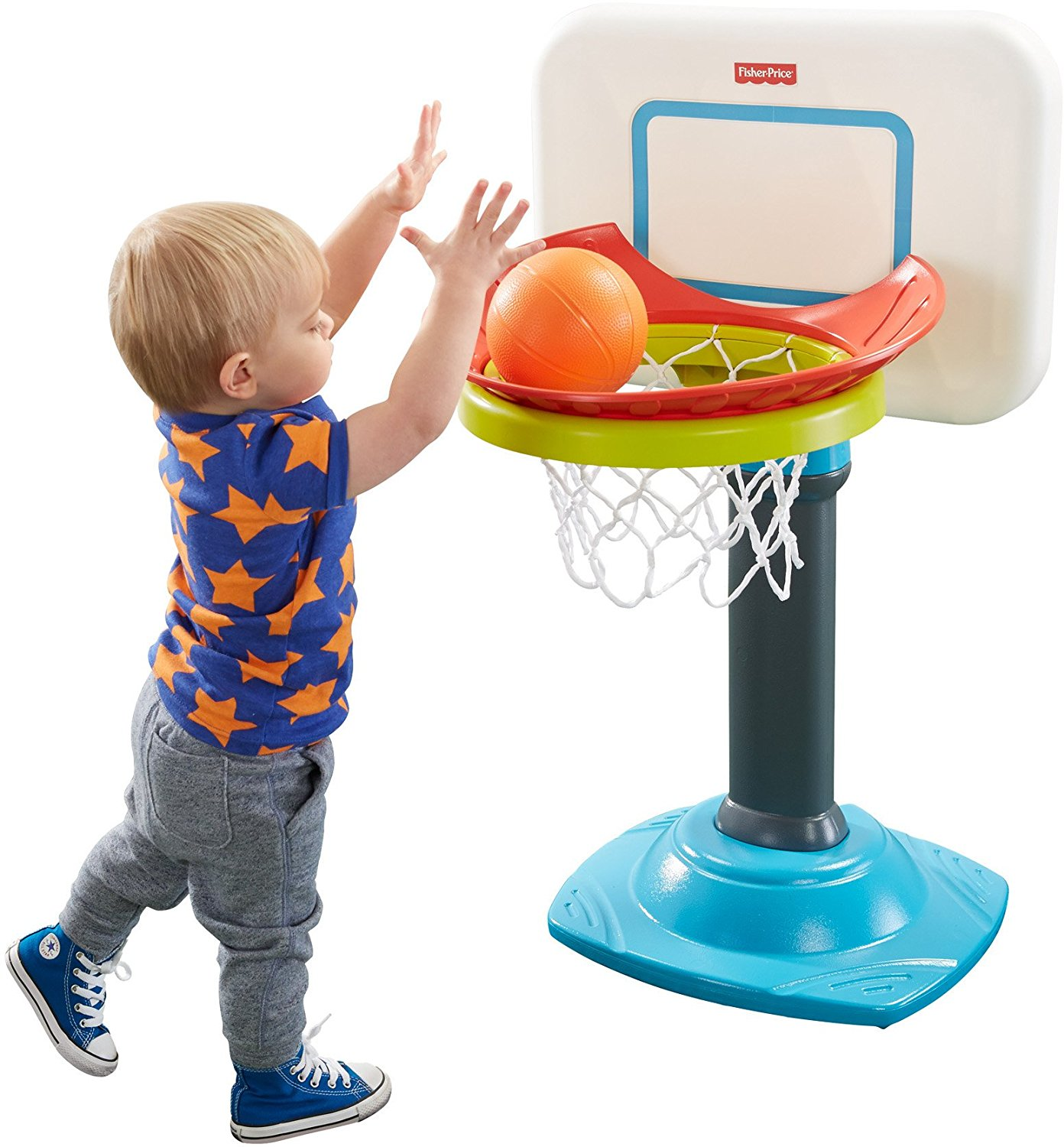 Trò chơi bóng rổ mini cho bé Fisher-Price Grow to Pro Junior Basketball