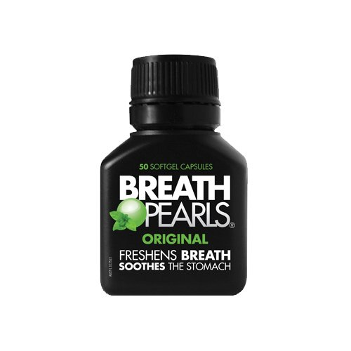Viên uống thơm miệng Breath Pearls Original Freshens Breath Soothes The Stomach 50 viên