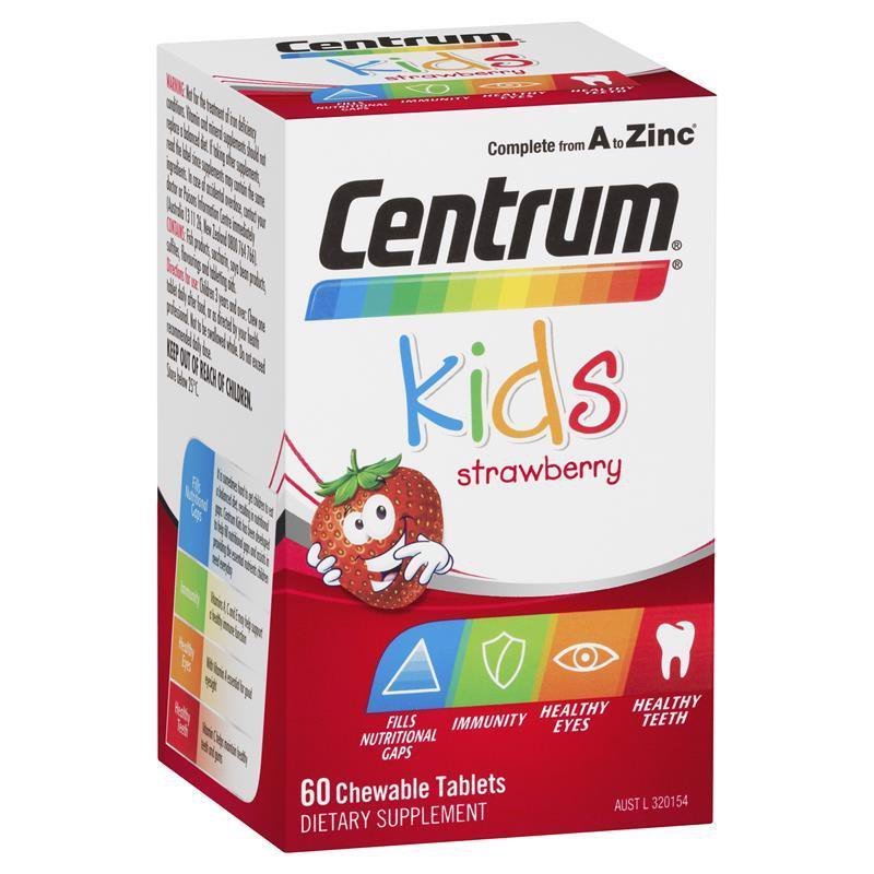 Vitamin Tổng Hợp Centrum Kids Multi Vitamin Strawberry 60 Viên