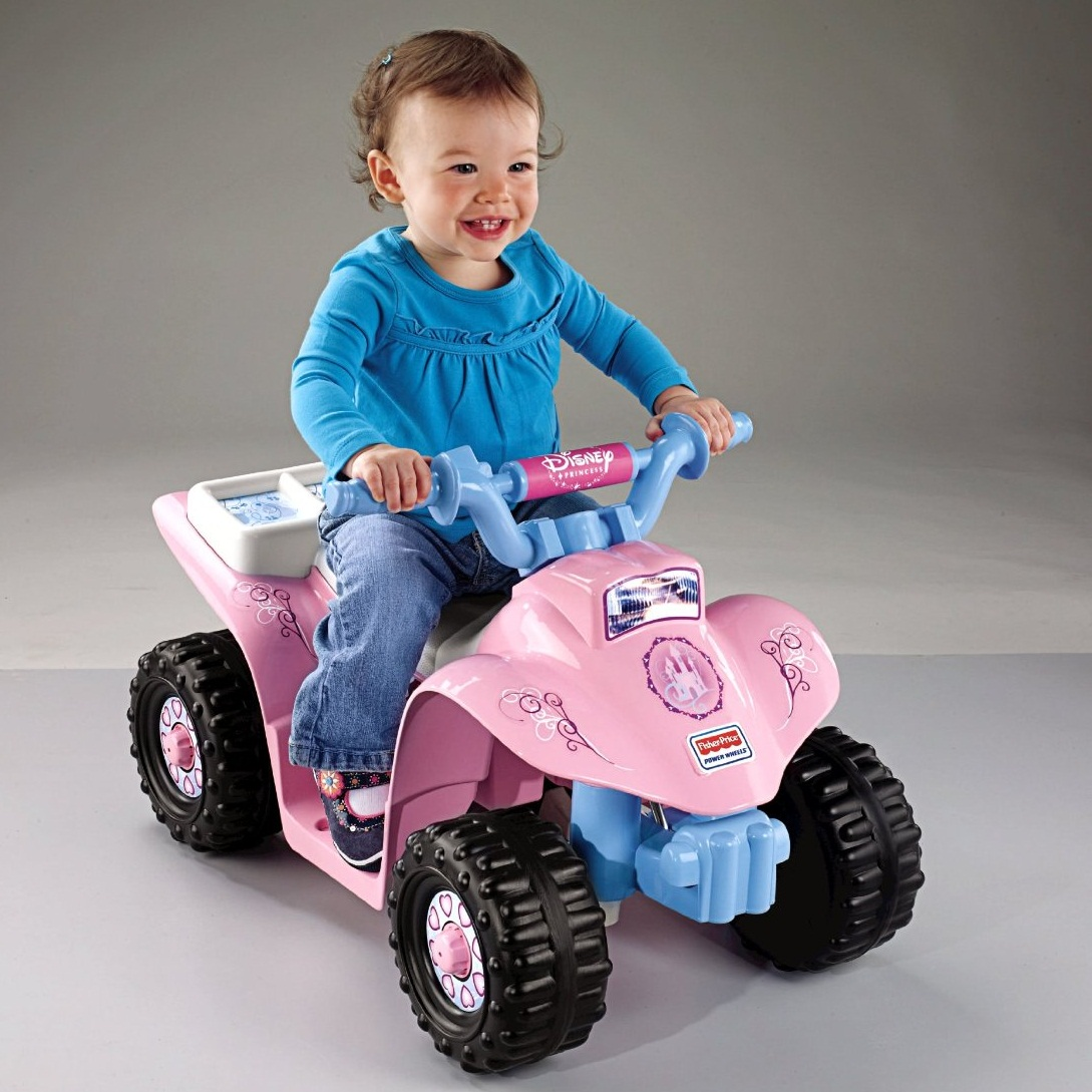 Xe điện Fisher-Price Power Wheels Disney Princess Lil' Quad
